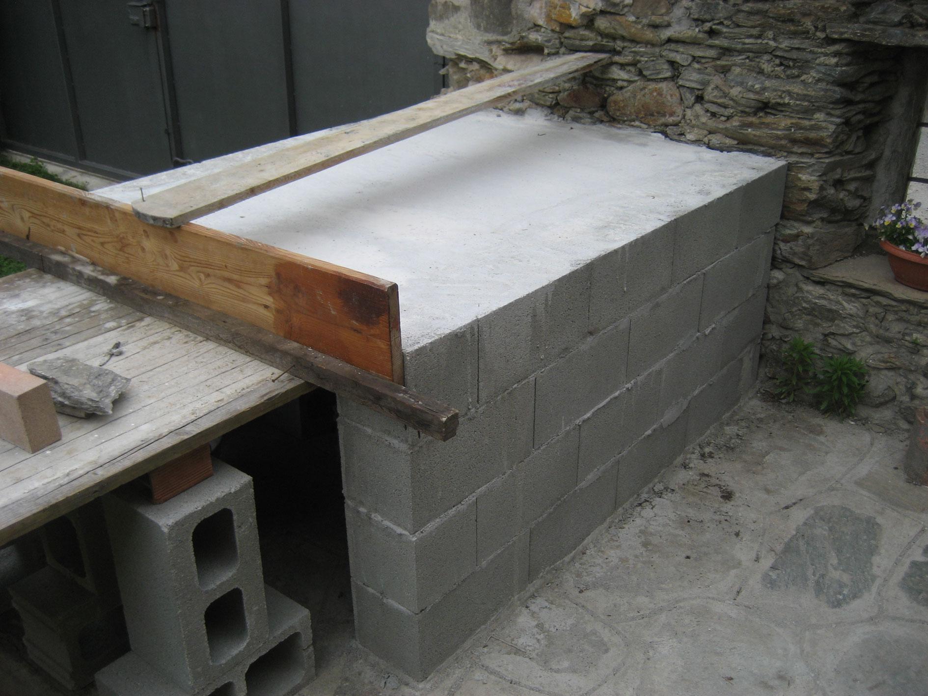 Forno in mattoni refrattari a base rettangolare costruzione